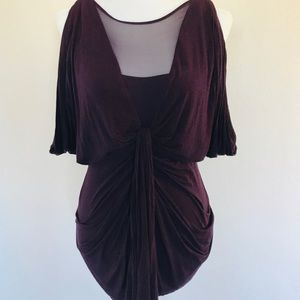 Anthropologie Bailey 44 Deep Purple Blouse Size M